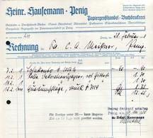 B4584 - Penig - Heinrich Hausemann Papiergroßhandel Buchdruckerei - Rechnung 1938 - Germany