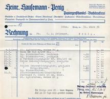 B4585 - Penig - Heinrich Hausemann Papiergroßhandel Buchdruckerei - Rechnung 1938 - Germany