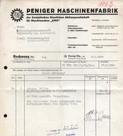 B4586 - Penig - Peniger Maschinenfabrik - Aktiengesellschaft AMO - Rechnung 1951 - Germany