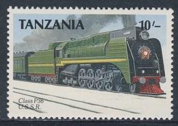 Tanzania 1989 Mi 573 ** Class P36 Steam Locomotive, (1953) Russia / UdSSR - Treinen