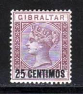 Gibraltar 1889 Yvert 17 * TB Charniere(s) - Gibraltar