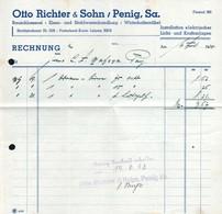 B4589 - Penig - Otto Richter & Sohn - Schlosserei Eisen Und Stahlwaren - Rechnung 1938 - Germany