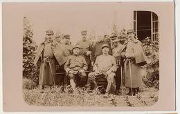 Carte Photo  64 Eme Groupe Officiers 1914 Envoi à Gabriel Joly La Clayette - Guerra 1914-18