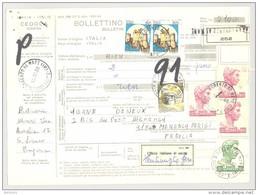 Bulletin D'Expédition - Italie - Cachets Et Vignette SAN LORENZO AL MARE - 1980 - Vignette Ufficio Italuano Di Uscita - 6. 1946-.. Republic