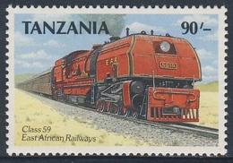 Tanzania 1989 Mi 578 ** East African Railways Class 59 Garratt Steam Locomotive No. 5919 / Ostafrika - Treinen