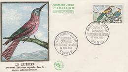 Enveloppe  FDC  1er   Jour   FRANCE   Oiseau  :  Le  GUEPIER   CAMARGUE    1960 - 1960-1969