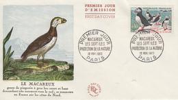 Enveloppe  FDC  1er   Jour   FRANCE   Oiseau  :  Le  MACAREUX    LES  SEPT  ILES    1960 - 1960-1969