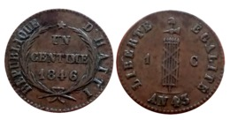HAITI SUPERBE 1 Centime Faisceau AN 43 1846 A VOIR!!! - Colonies