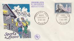 Enveloppe  FDC  1er  Jour   FRANCE   Marc   SANGNIER    PARIS   1960 - 1960-1969