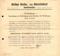B4591 - Oberelsdorf Bei Lunzenau - Arthur Krebs - Schmiedemeister - Patent - Deutschland