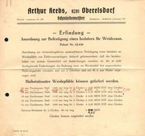 B4591 - Oberelsdorf Bei Lunzenau - Arthur Krebs - Schmiedemeister - Patent - Germany