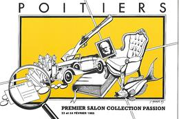 POITIERS . Premier Salon Collection Passion. 1985 - Beursen Voor Verzamellars