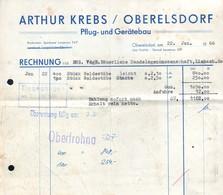 B4592 - Oberelsdorf Bei Lunzenau - Arthur Krebs - Pflug Und Gerätebau - Rechnung 1966 - Deutschland