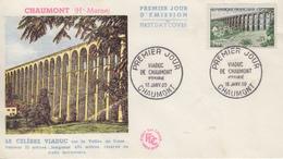 Enveloppe  FDC  1er  Jour   FRANCE   Viaduc   De   CHAUMONT   1960 - 1960-1969