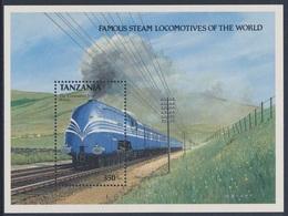 "Tanzania 1989 B 95 = Mi 582 ** L.M.S. ""Coronation Scot"" (1937) Great Britain / Großbritannien - Treinen"