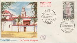 Enveloppe  FDC  1er  Jour   FRANCE   Grande  Mosquée  De  TLEMCEN  1960 - 1960-1969