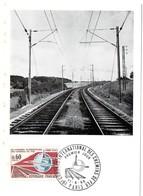 CARTE MAXIMUM FRANCE 1966 / PARIS = CACHET  FDC  PREMIER JOUR N° 1488 'CONGRES INTERNATIONAL DES CHEMINS DE FER' - 1960-69