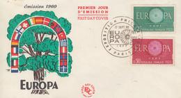 Enveloppe  FDC  1er  Jour   FRANCE   Paire   EUROPA    PARIS   1960 - 1960-1969