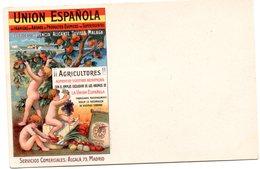Tarjeta Postal De Union Española De Fabrica De Abonos De Productos Quimicos . Fabricas En Valencia Alicante.... - Valencia