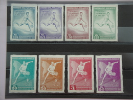 1961 Paraguay Yvert  635/8 + Pa305/8 ** Sport Tennis Scott 630/7 Michel 1001/8 SG Xx - Paraguay
