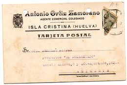 Tarjeta Postal De Isla Cristina (huelva)  De 1943 - 1931-50 Storia Postale