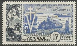 French West Africa - 1954 Liberation Anniversary 15f  MH *   Mi 65   Sc C17 - Unused Stamps