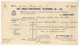 Receipt * Portugal * 1940 * Porto * The Anglo-Portuguese Telephone Co., Ltd * Holed - Portugal