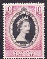 Malaysia-Johore SG 152 1953 Coronation, Mint Never Hinged - Johore