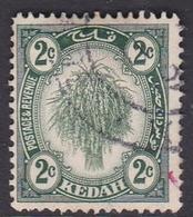 Malaysia-Kedah SG 18 1919 Sheaf Of Rice, 2c Green, Used - Kedah