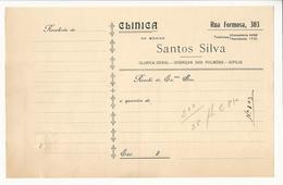 Receipt * Portugal * Clinica Do Medico Santos Silva * Holed - Portugal