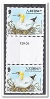 Alderney 1995, Postfris MNH, Birds, Gutterpair - Alderney