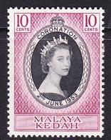 Malaysia-Kedah SG 91 1953 Coronation, Mint Never Hinged - Kedah
