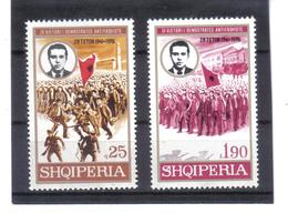 OST1469 ALBANIEN 1976  MICHL 1863/64 Postfrisch SIEHE ABBILDUNG - Albanien