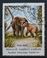 LAOS 1982 Indian Elephant. USADO - USED. - Elefantes