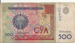 OUZBEKISTAN 500 SUM 1999 VG+ P 81 - Ouzbékistan
