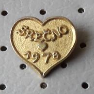 Happy New Year 1978 Heart Love Slovenia Pin - Christmas