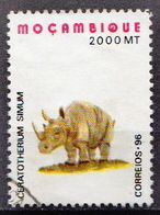 Mozambique Used Stamp - Rhinozerosse