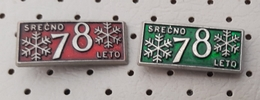 Happy New Year 1978 Snowflake Slovenia Pins - Christmas
