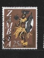 ZAMBIA    1968 Local Motifs - Value In (K)wacha And (N)gwee USED - Zambie (1965-...)