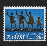 ZAMBIA   1968 The 21st Anniversary Of UNICEF   USED - Zambie (1965-...)