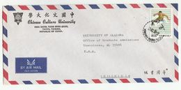 1990 TAIWAN CHINESE UNIVERSITY COVER Stamps ATHLETICS HURDLER Sport Air Mail To USA  China - 1945-... República De China