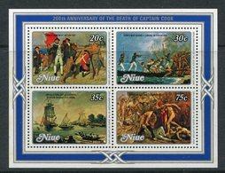 Niue 1979 Death Bi-centenary Of Captain Cook MS MNH (SG MS299) - Niue