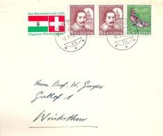 Brief  Wabern - Winterthur  (Vignette Ungarnhilfe)           1957 - Storia Postale