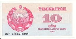 OUZBEKISTAN 10 SUM 1992 UNC P 64 - Uzbekistan