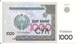 OUZBEKISTAN 1000 SUM  2001 UNC P 82 - Ouzbékistan