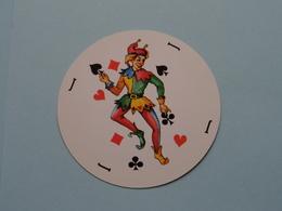 JOKER - ROND ( Details - Zie Foto's Voor En Achter ) RIEM COPY Reacto Zelfkopiërend : 7,7 Cm. ( 4 Stuks ) ! - Playing Cards (classic)