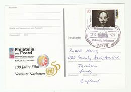1995 RONTGEN XRAY 100th ANNIV On METROPOLIS MOVIE Postal STATIONERY CARD Cover GERMANY Stamp Film Cinema Health Medicine - Physics