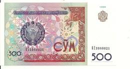 OUZBEKISTAN  500 SUM 1999 UNC P 81 - Uzbekistan
