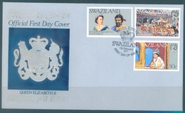 SWAZILAND - 7.2.1977 - FDC - SILVER JUBILEE - SG 268-270 - Lot 17065 - Swaziland (1968-...)