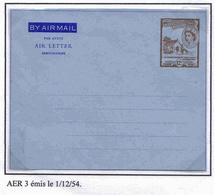 Saint Christophe Aérogramme N°3 Aerogram Air Letter Entier Entero Ganzsache Lettre Carta Belege Airmail Cover - St.Christopher-Nevis-Anguilla (...-1980)